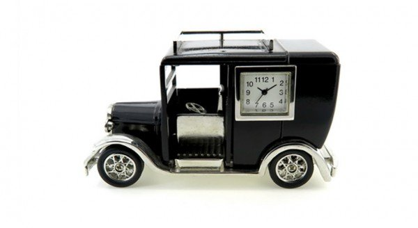 "Designer Tischuhr London Taxi ""Black Cab"" aus Metall"