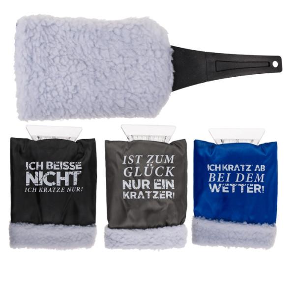 Eiskratzer mit Handschuh 27x15cm verschiedene Sprüche