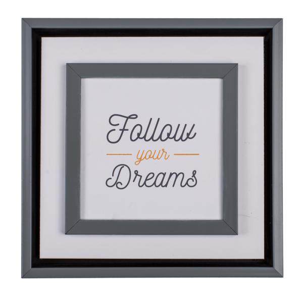 """Schild """"Follow Your Dreams"""" aus Holz 20cm"""