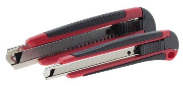 Cuttermesser Set 8-tlg. 18 mm und 9 mm + Ersatzklingen