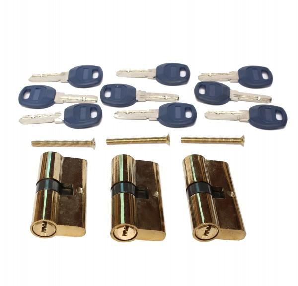 PROFI Sicherheits Schließzylinder mit mehreren Schlüsseln