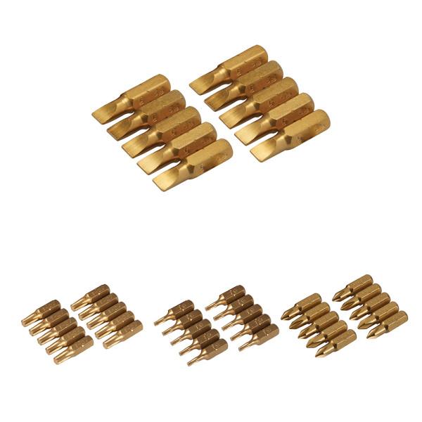 10 x Schraubendreher Gold Bits verschiedene Größen