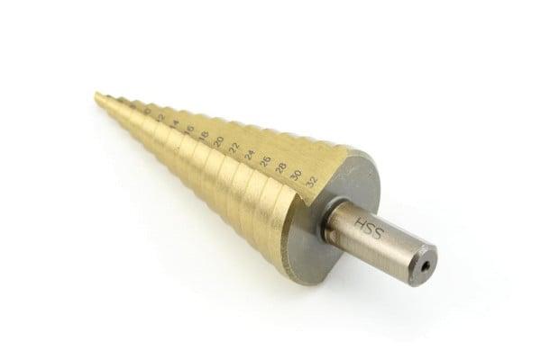 Stufenbohrer 4-32 mm TIN beschichtet