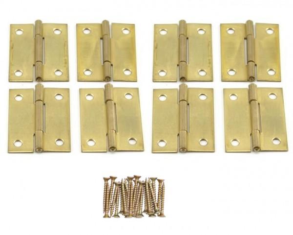 8 x Scharniere 50x38x1.3 mm mit Schrauben