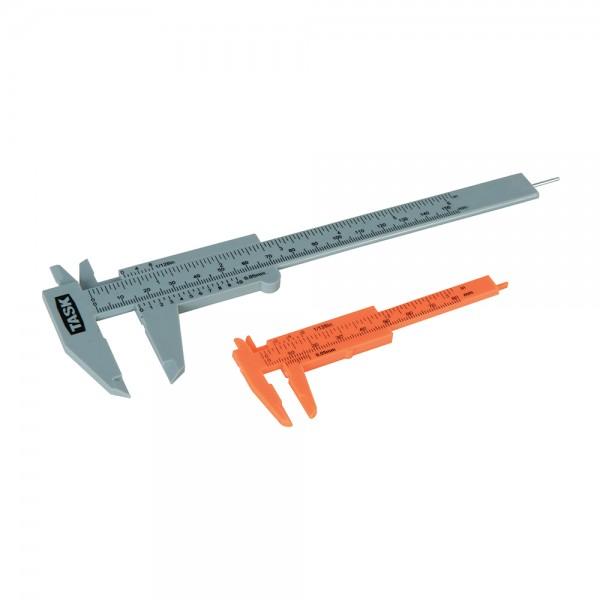 Messschieber Set aus Kunststoff 2 tlg. 80 mm und 150 mm