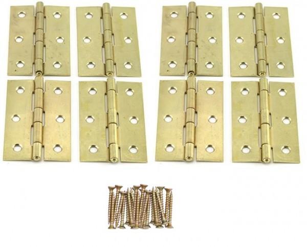 8 x Scharniere 76x48x1.5 mm mit Schrauben