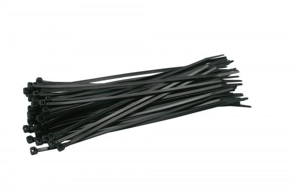 50 x Kabelbinder 25cm Schwarz