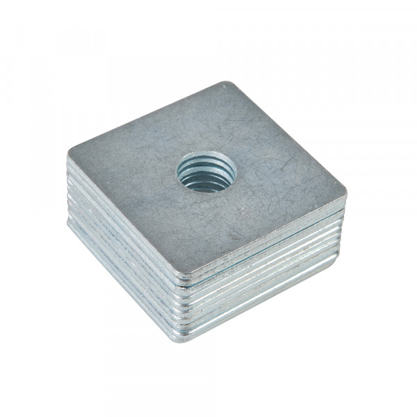 10 x Quadratische Unterlegscheibe 50x50mm M12