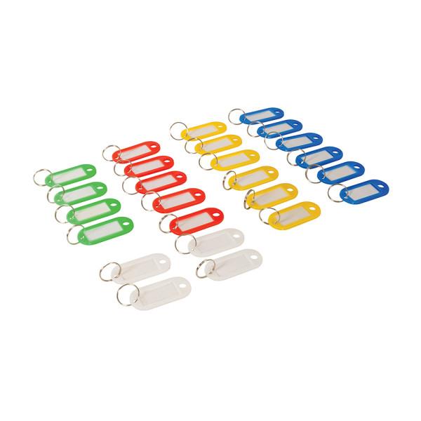 25 x Schlüsselschilder zum beschriften Bunt