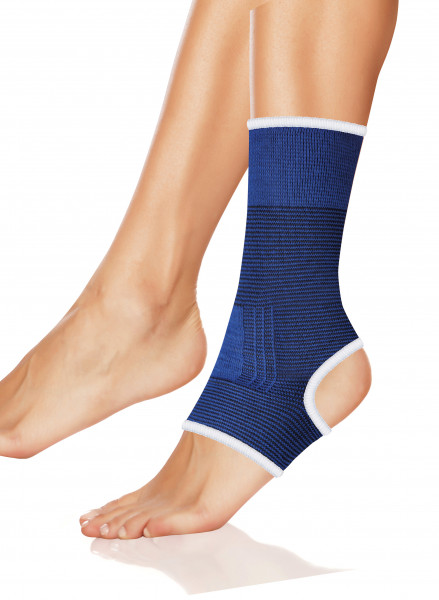 Sportbandage Fußgelenkschutz elastisch blau