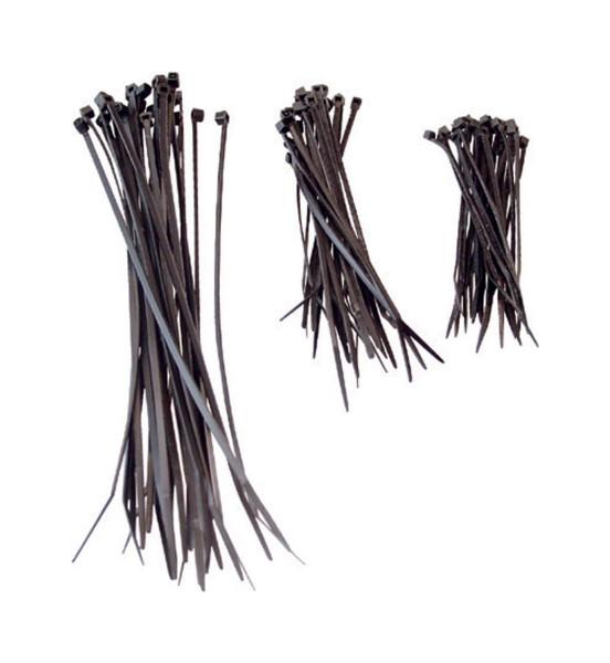 Kabelbinder Set 9-12-20 cm 75 teilig Schwarz