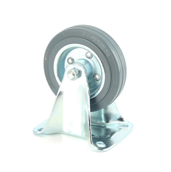 Bockrolle mit Gummirad grau 100 x 30 mm