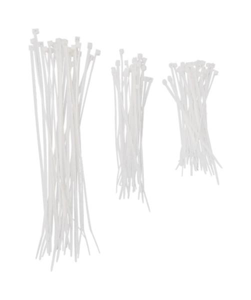 Kabelbinder Set 9-12-20 cm 75 teilig Weiss