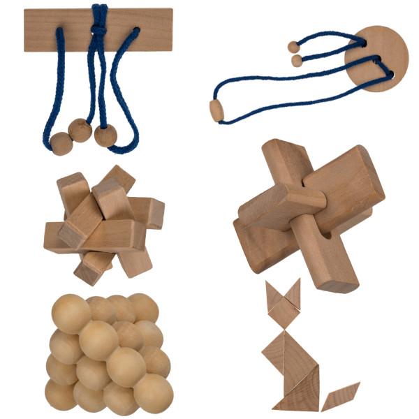 Geschicklichkeitsspiel aus Holz verschiedene
