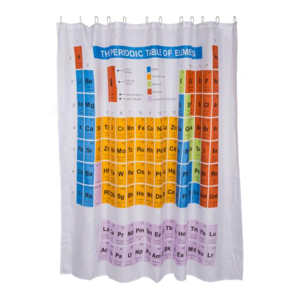 Duschvorhang Periodensystem 180x180cm