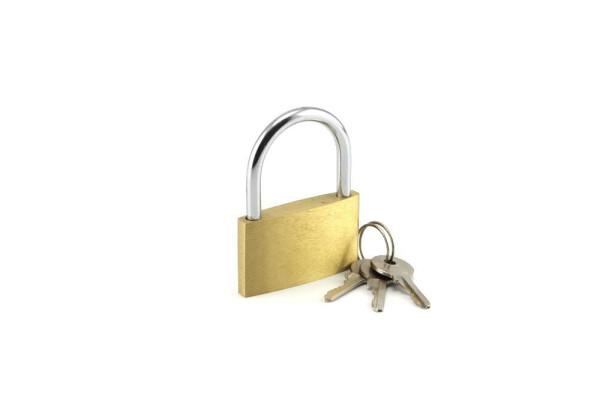 Messing Vorhängeschloss 25-60mm + 3 Schlüssel