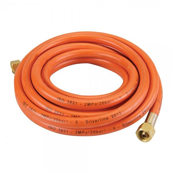 Gasschlauch mit Verbindern 5 m gemäß BS EN ISO 3821:2010