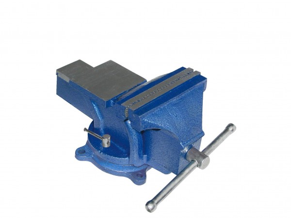 Schraubstock drehbar blau