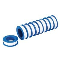 10 x Rolle PTFE-Band weiß 12 m x 12 mm