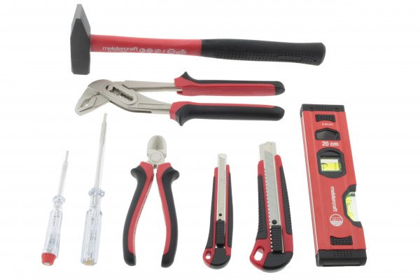meistercraft Werkzeug Set Premium Hammer, Wasserwaage, Seitenschneider uvm.
