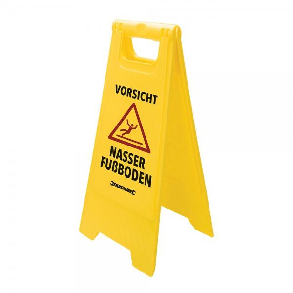 """Warnschild """"Vorsicht, nasser Fußboden"""" Rutschgefahr zum aufstellen"""