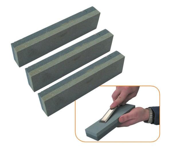 3 x Abziehstein 150x50x25mm Schleifstein Wetzstein für Werkzeug grob und fein NEU
