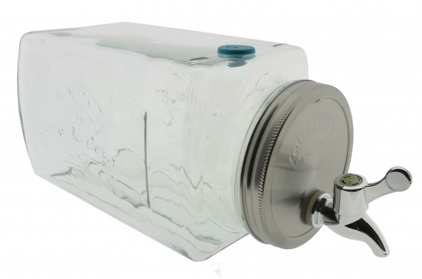 Getränkespender 3 Liter mit Zapfhahn im Vintage Design