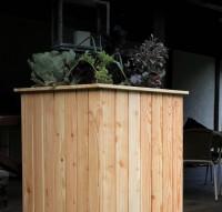 HOQ 63000265 - Hochbeet 60 x 60 x 100 cm aus Lärchenholz mit Vlies