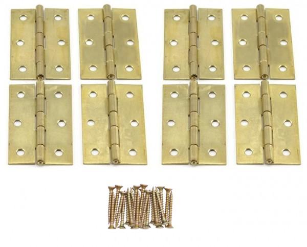 8 x Scharniere 63.5x40x1.4 mm mit Schrauben