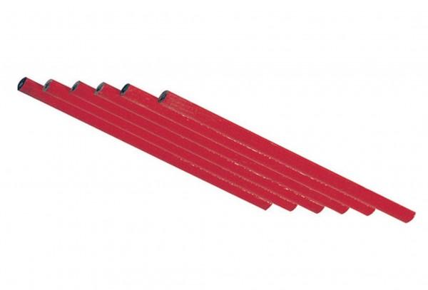 6 x Zimmermannsbleistifte 175mm Rot