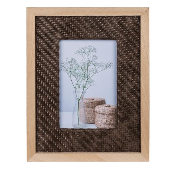 Bilderrahmen aus Holz 10x15cm in Rattan Optik