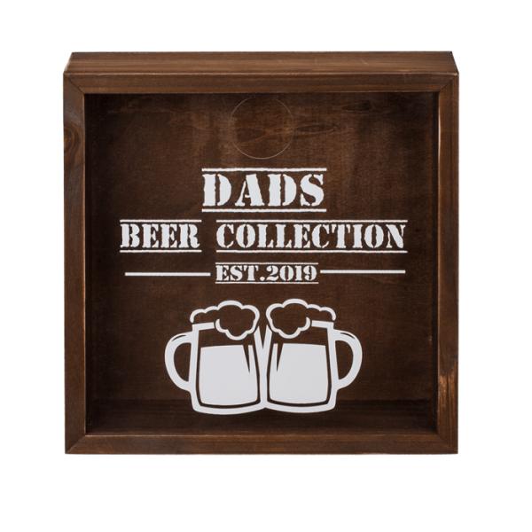 "Kronkorkensammler ""Dads Beer Collection"" aus Holz"